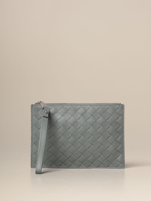 Briefcase Bottega Veneta: Bottega Veneta clutch bag in woven leather grey 1