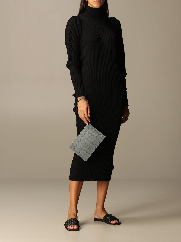 Briefcase Bottega Veneta: Bottega Veneta clutch bag in woven leather grey 2