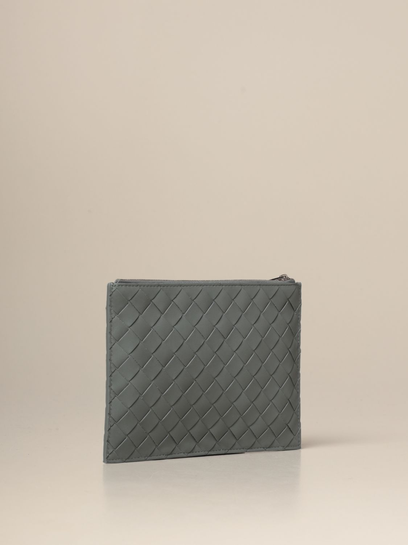 Briefcase Bottega Veneta: Bottega Veneta clutch bag in woven leather grey 3