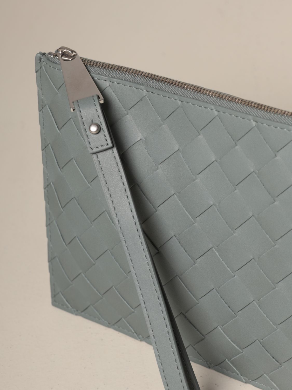 Briefcase Bottega Veneta: Bottega Veneta clutch bag in woven leather grey 4
