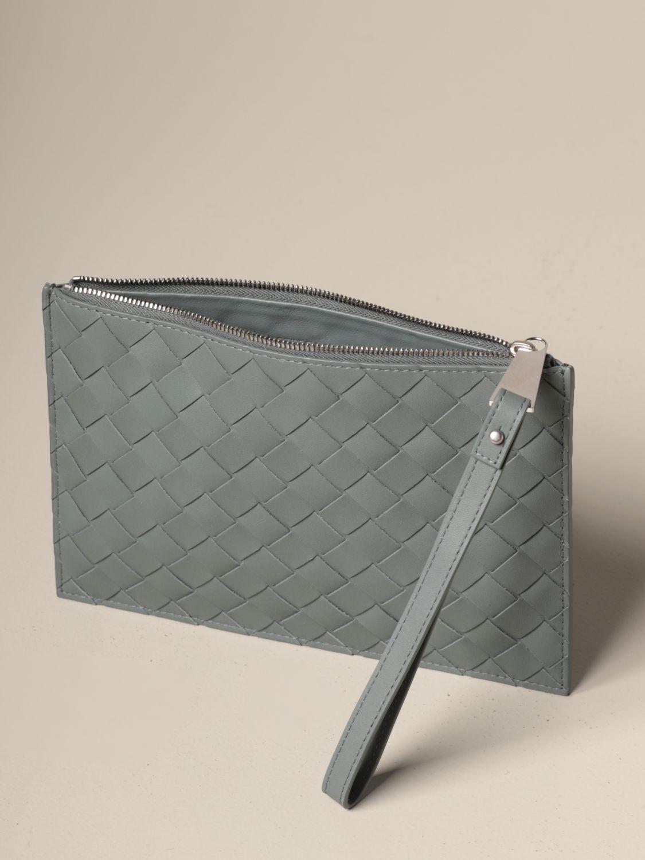 Briefcase Bottega Veneta: Bottega Veneta clutch bag in woven leather grey 5