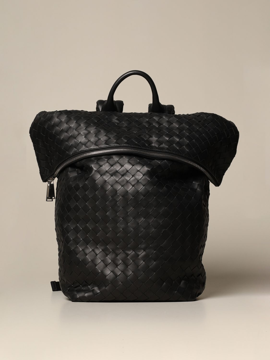 Backpack Bottega Veneta: Bottega Veneta backpack in woven leather black 1