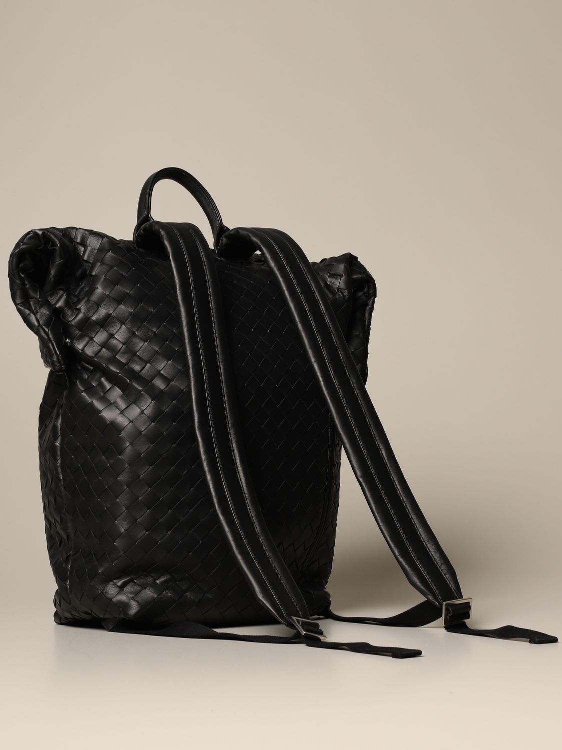 Backpack Bottega Veneta: Bottega Veneta backpack in woven leather black 2