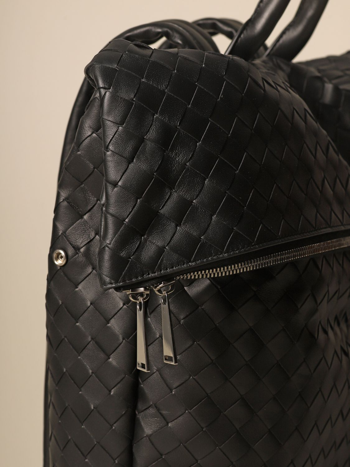Backpack Bottega Veneta: Bottega Veneta backpack in woven leather black 3