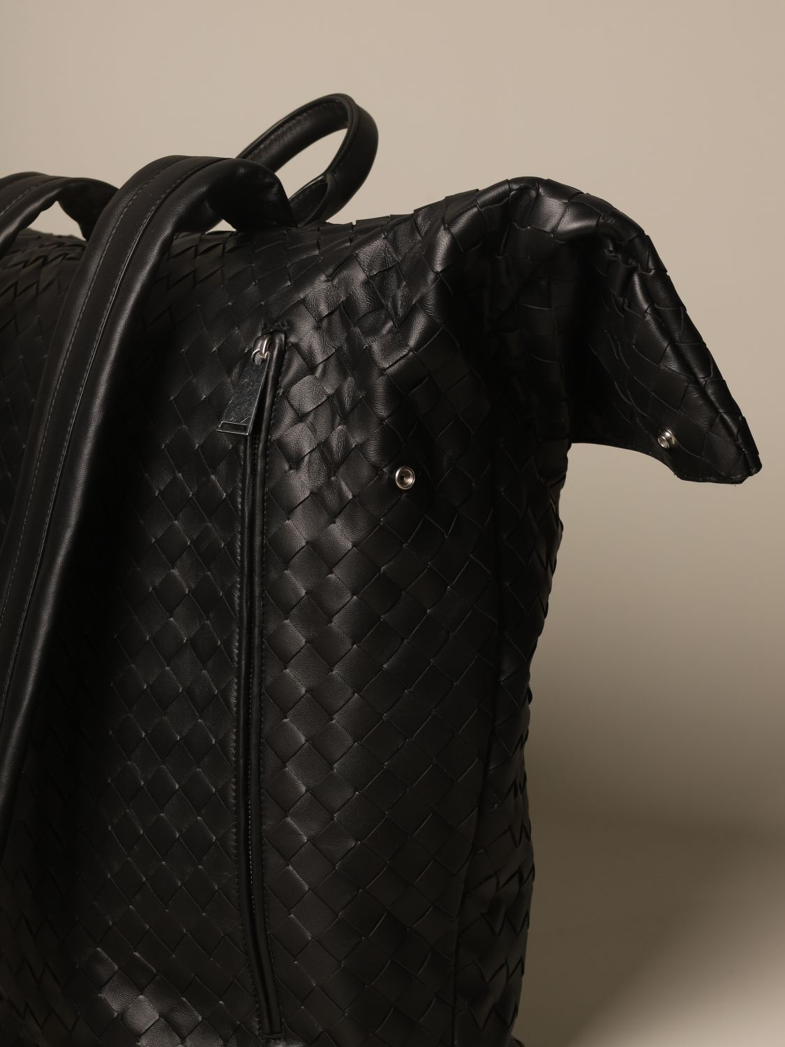 Backpack Bottega Veneta: Bottega Veneta backpack in woven leather black 4