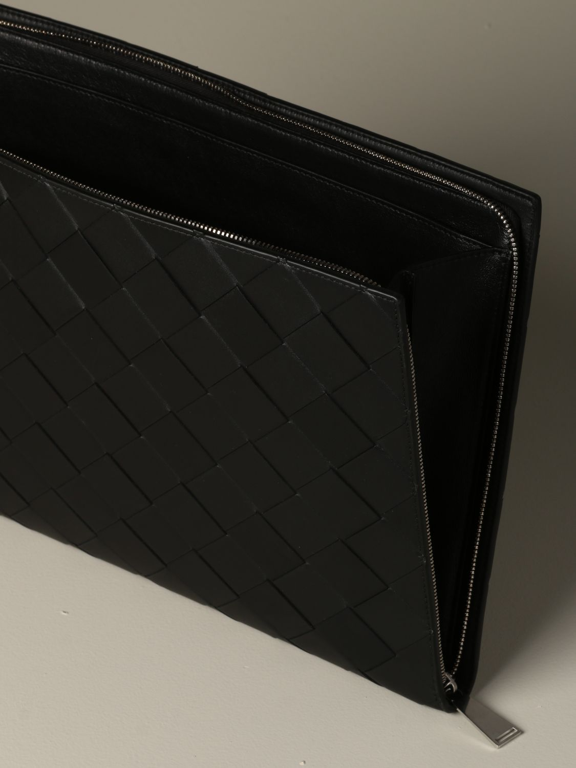 Briefcase Bottega Veneta: Bottega Veneta document holder in 3.0 woven leather black 4