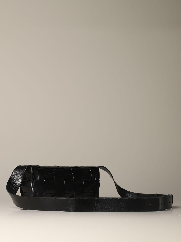 Shoulder bag Bottega Veneta: The Stretch Cassette Bottega Veneta bag in woven leather black 3