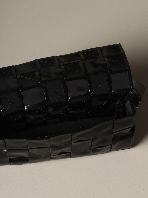 Shoulder bag Bottega Veneta: The Stretch Cassette Bottega Veneta bag in woven leather black 5