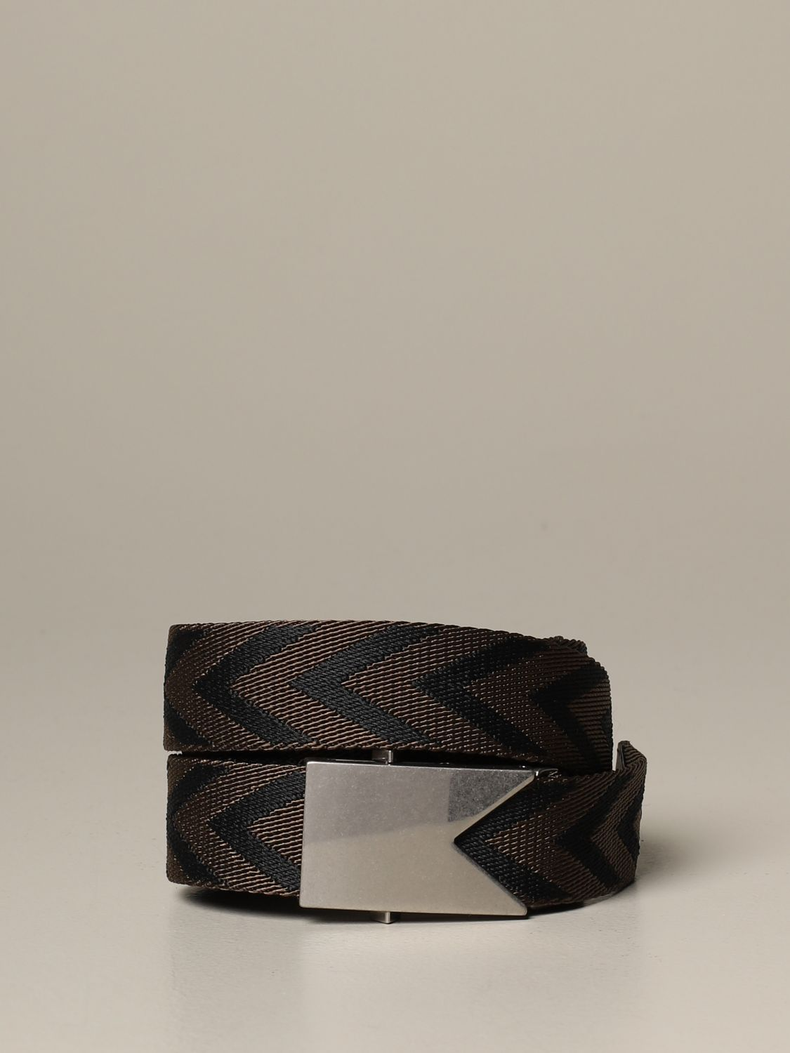 Belt Bottega Veneta: Bottega Veneta belt in chevron fabric dark 1