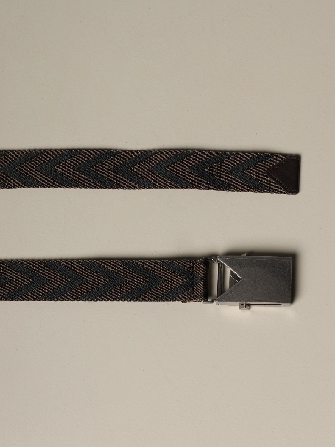 Belt Bottega Veneta: Bottega Veneta belt in chevron fabric dark 2