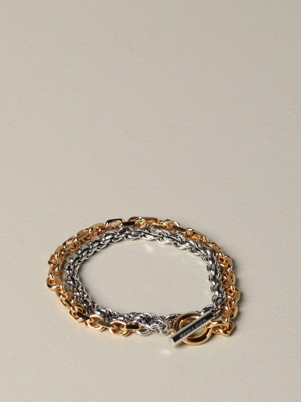 Jewel Bottega Veneta: Bottega Veneta bracelet in double bicolor knit gold 1