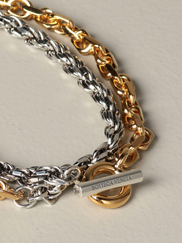 Jewel Bottega Veneta: Bottega Veneta bracelet in double bicolor knit gold 2