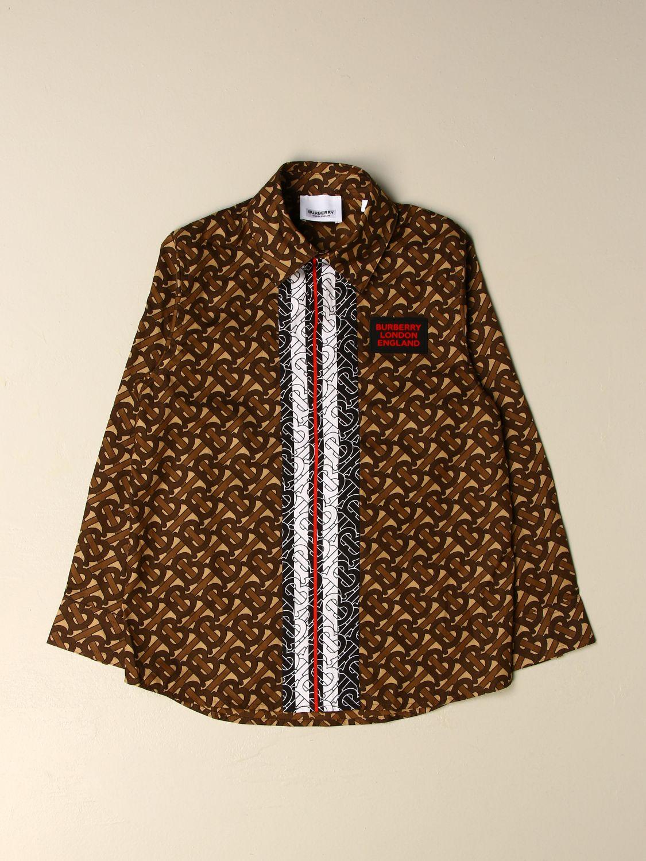 Camisa Burberry: Camisa niños Burberry marrón 1