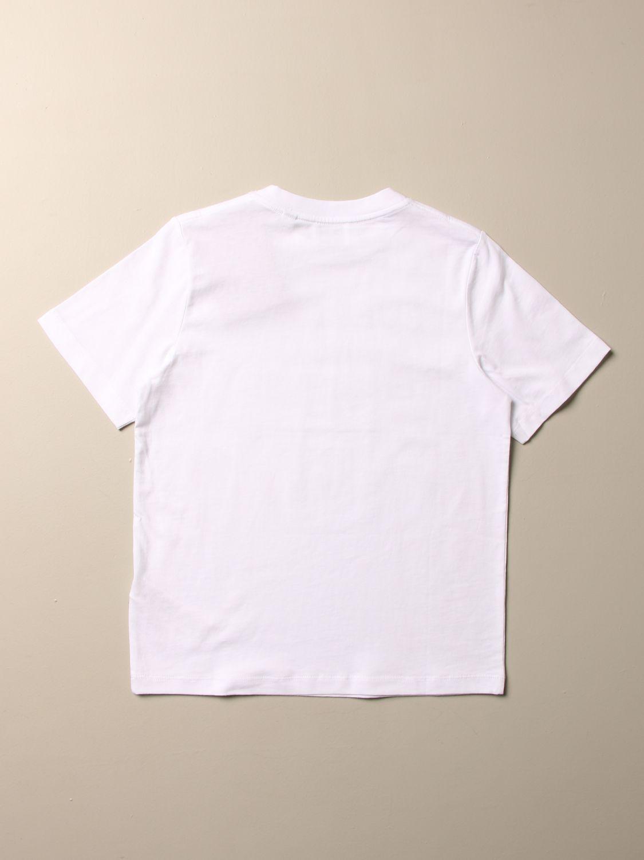 T-shirt Burberry: T-shirt Burberry in cotone con logo bianco 2