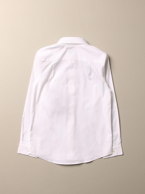 Camicia Burberry: Camicia Burberry in cotone stretch con paramontura a righe bianco 2