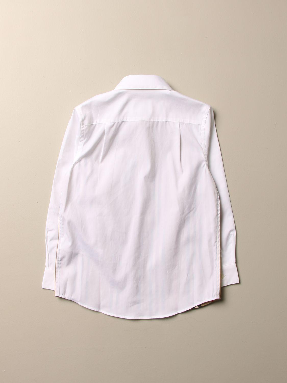 Camicia Burberry: Camicia Burberry in cotone stretch con motivo a righe bianco 2
