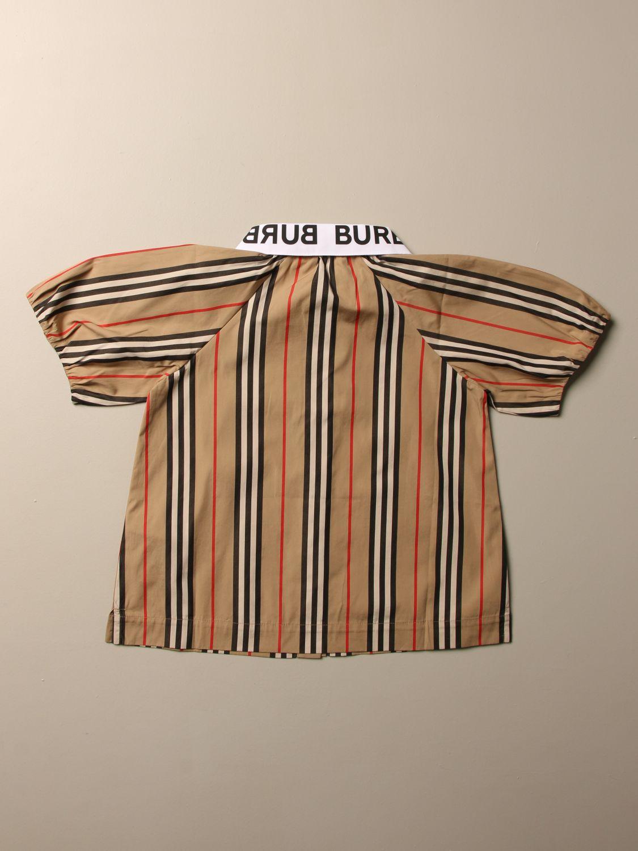 Camicia Burberry: Camicia Burberry in cotone a righe beige 2