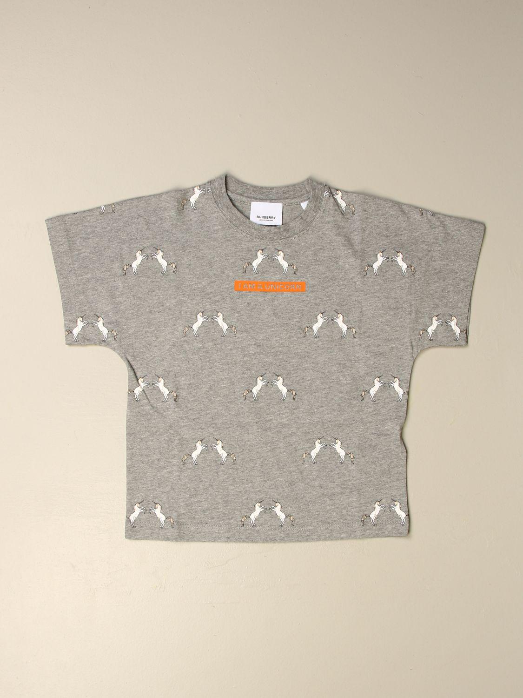 T-shirt Burberry: T-shirt enfant Burberry gris 1