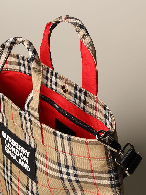 Shoulder bag Burberry: Bags men Burberry beige 4