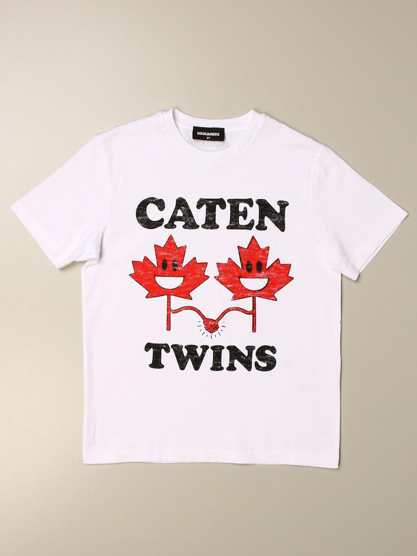 Camiseta Dsquared2 Junior: Camiseta niños Dsquared2 Junior blanco 1