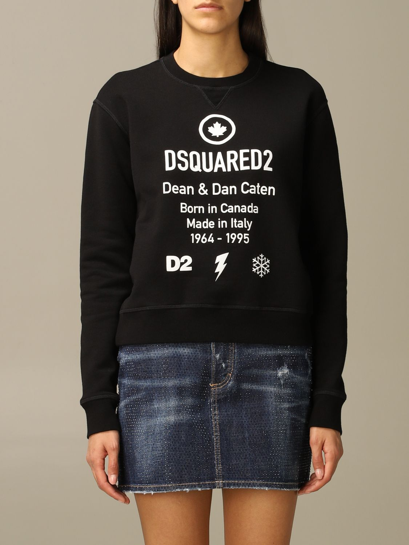 Sweatshirt Dsquared2: Dsquared2 cotton sweatshirt with logo black 1