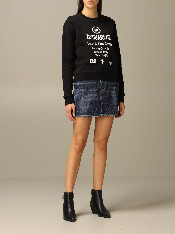 Sweatshirt Dsquared2: Dsquared2 cotton sweatshirt with logo black 2