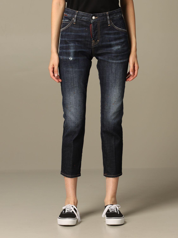 牛仔裤 Dsquared2: 牛仔裤 女士 Dsquared2 牛仔布 1