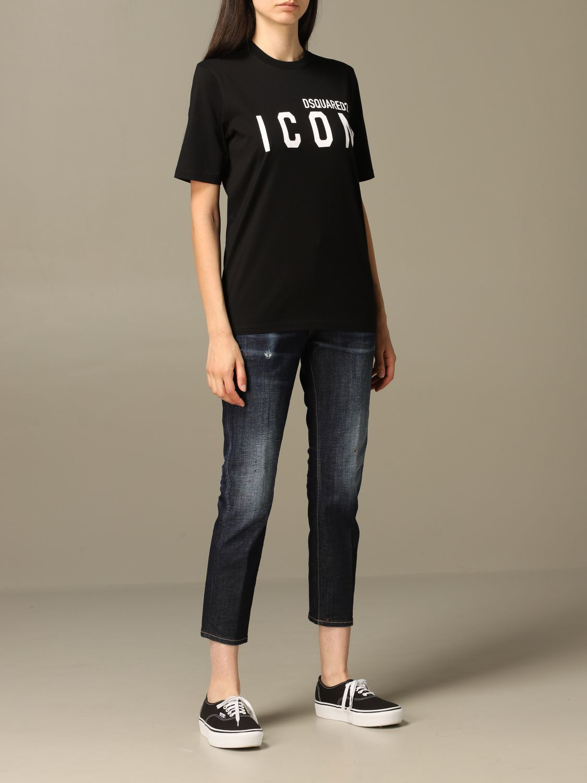 牛仔裤 Dsquared2: 牛仔裤 女士 Dsquared2 牛仔布 2