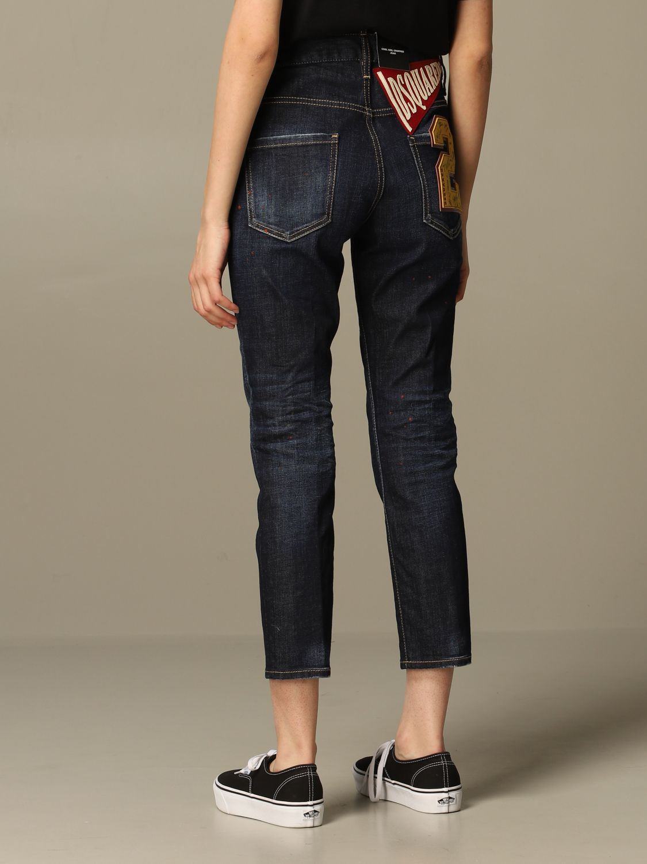 牛仔裤 Dsquared2: 牛仔裤 女士 Dsquared2 牛仔布 3