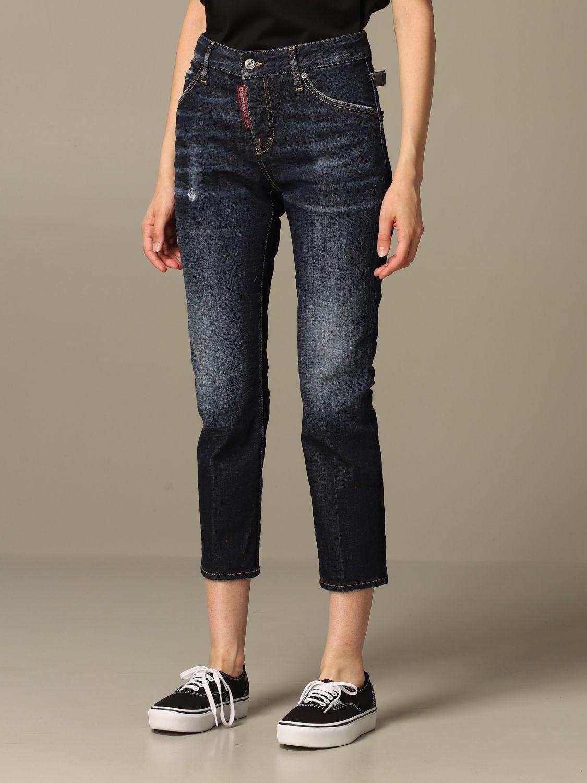 牛仔裤 Dsquared2: 牛仔裤 女士 Dsquared2 牛仔布 4