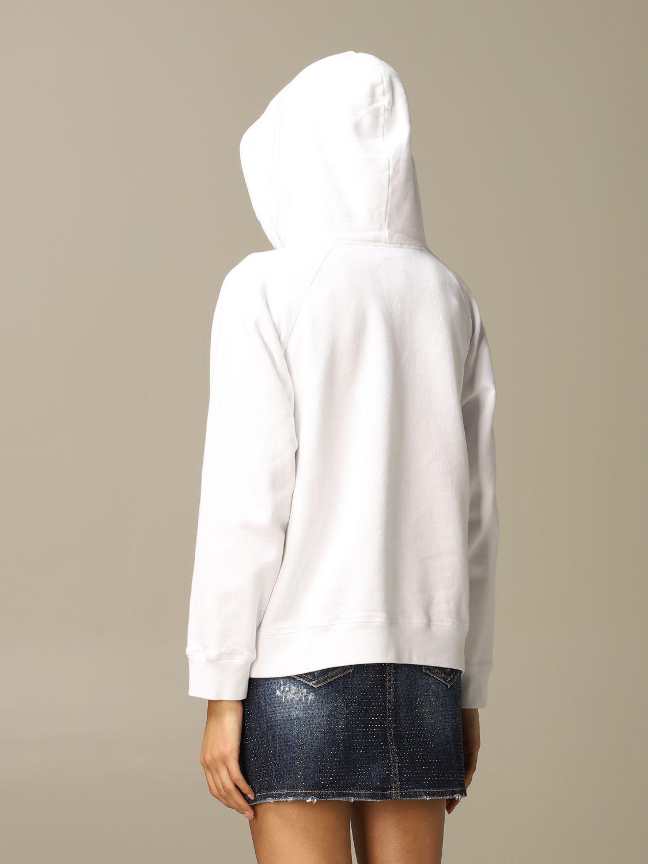 Sweatshirt Dsquared2: Icon Dsquared2 cotton sweatshirt with hood white 3