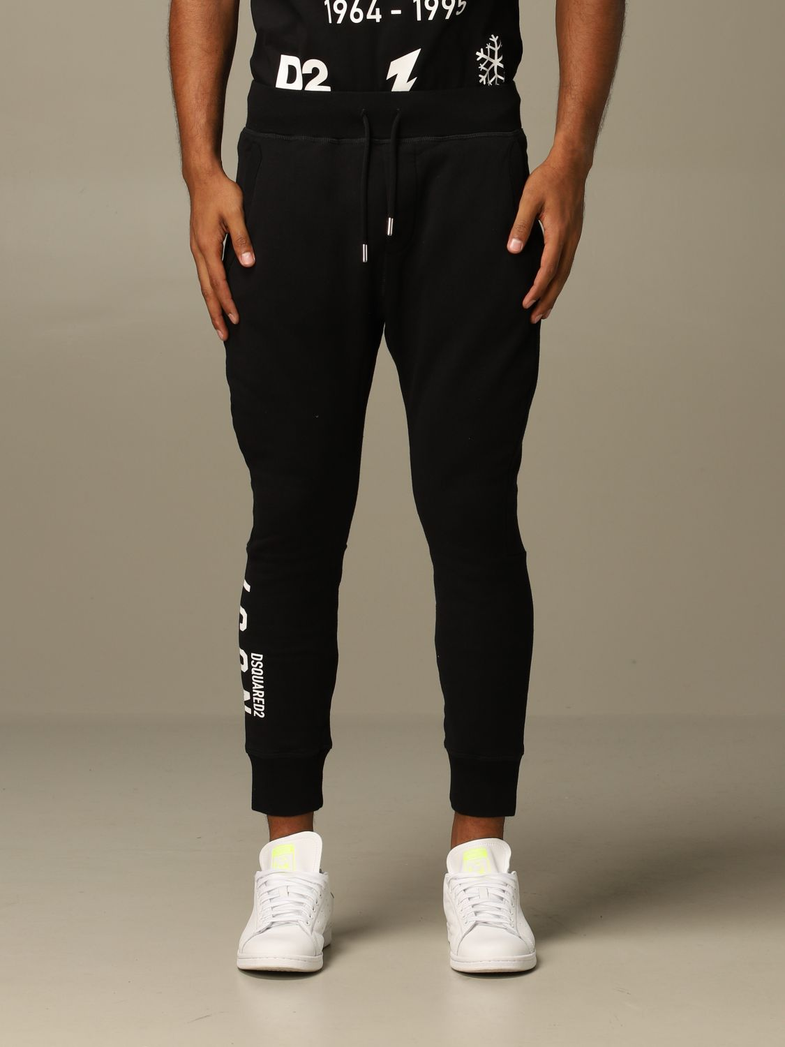 Pants Dsquared2: Icon Dsquared2 jogging trousers with logo black 1