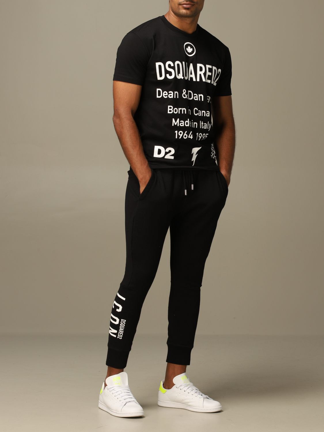 Pants Dsquared2: Icon Dsquared2 jogging trousers with logo black 2