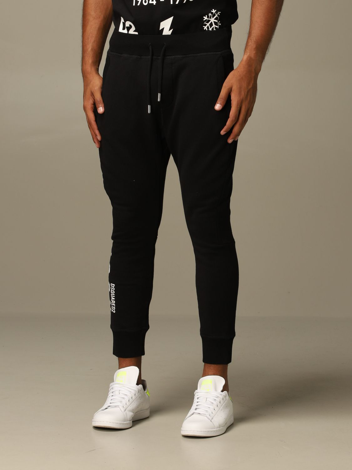Pants Dsquared2: Icon Dsquared2 jogging trousers with logo black 4
