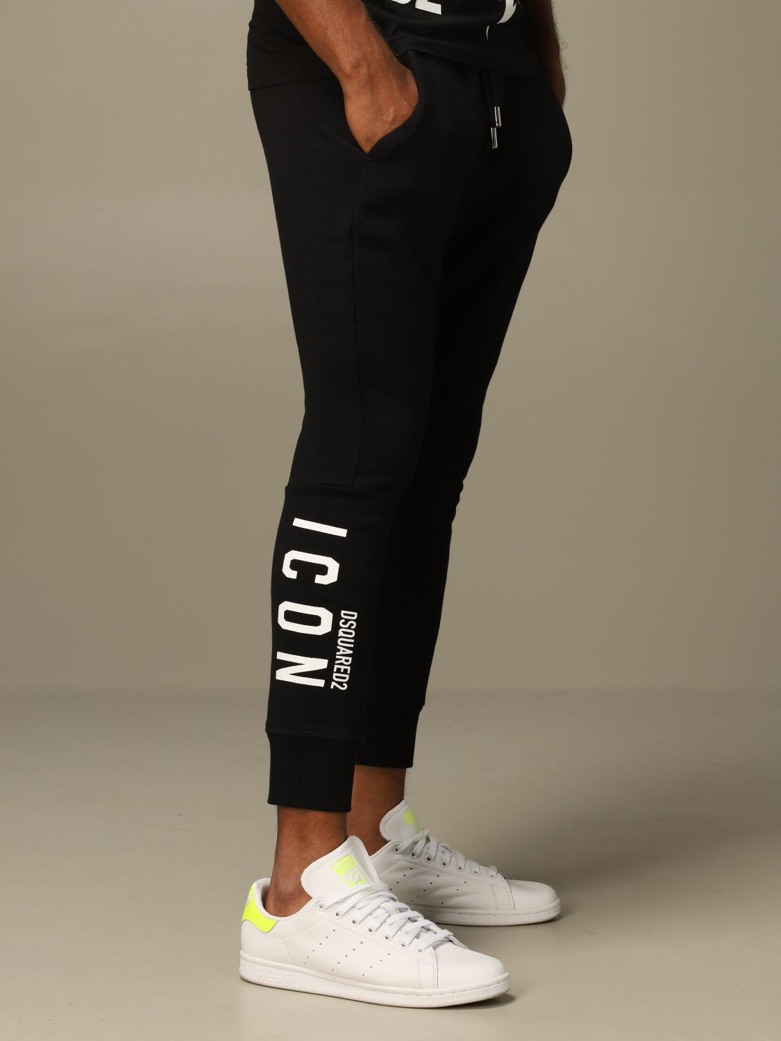 Pants Dsquared2: Icon Dsquared2 jogging trousers with logo black 5