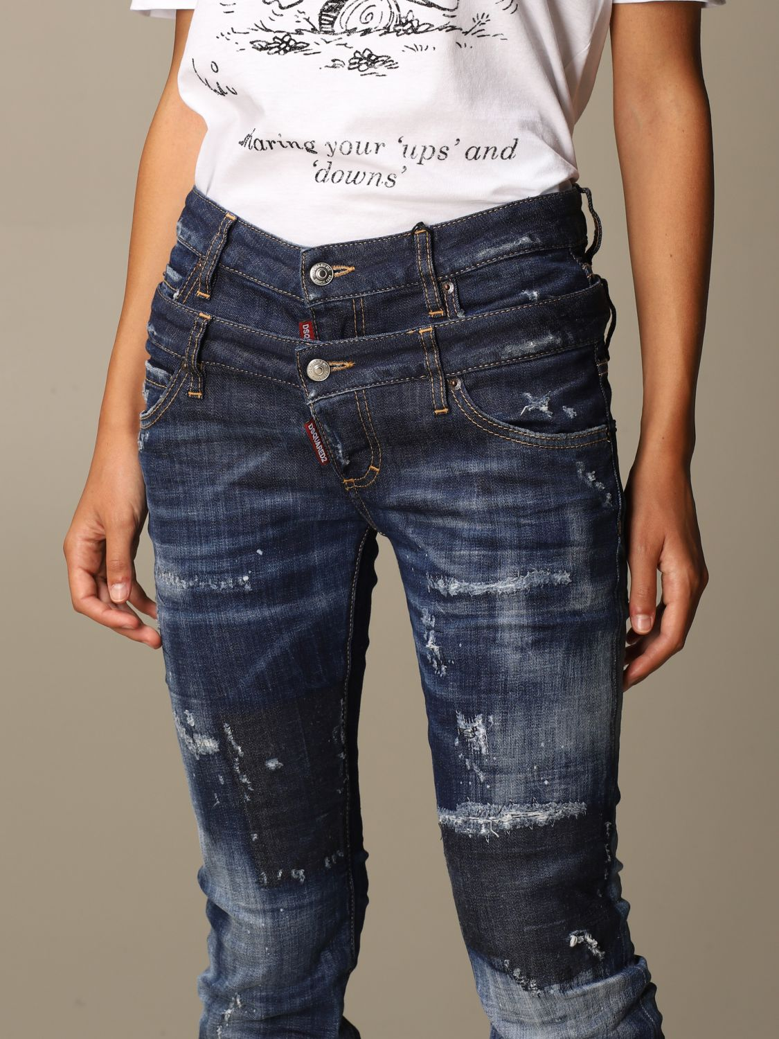Jeans Mujer Dsquared2 Jeans Dsquared2 Mujer Denim Jeans Dsquared2 S72lb0315 S30342 Giglio Es