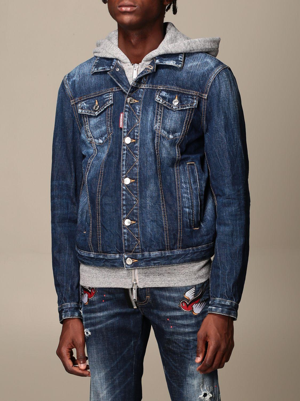 Jacket Dsquared2: Jacket men Dsquared2 denim 4