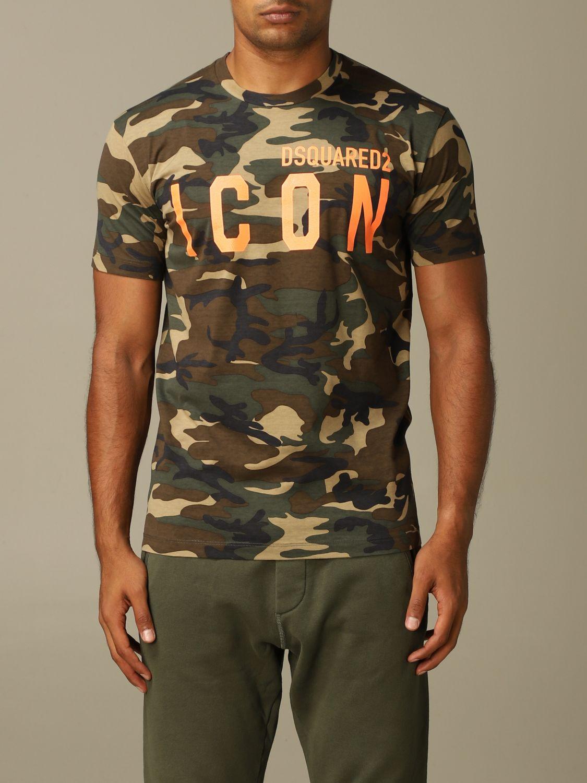 T-Shirt Dsquared2: T-shirt herren Dsquared2 military 1
