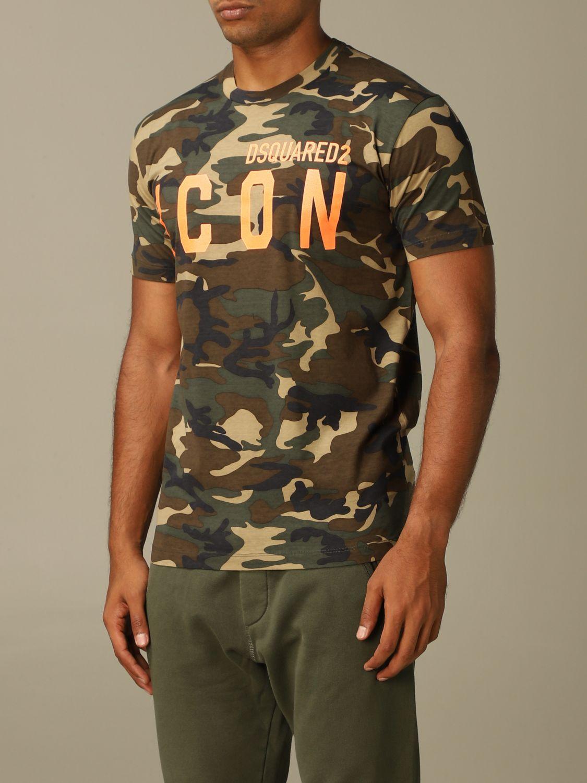 T-Shirt Dsquared2: T-shirt herren Dsquared2 military 3