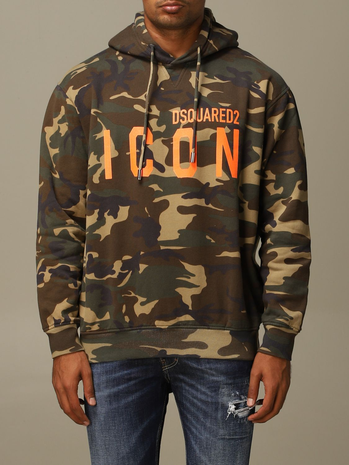 Sweatshirt Dsquared2: Sweatshirt herren Dsquared2 military 1