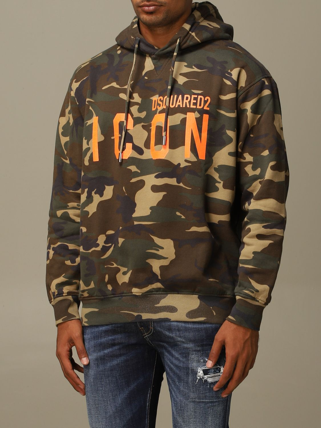 Sweatshirt Dsquared2: Sweatshirt herren Dsquared2 military 3