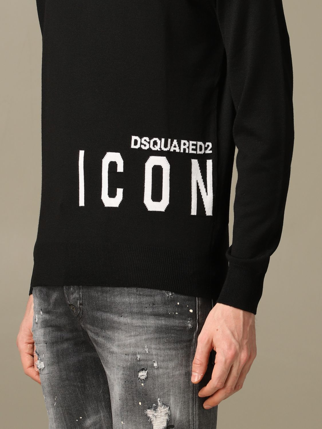 Sweater Dsquared2: Icon Dsquared2 sweater with logo black 5