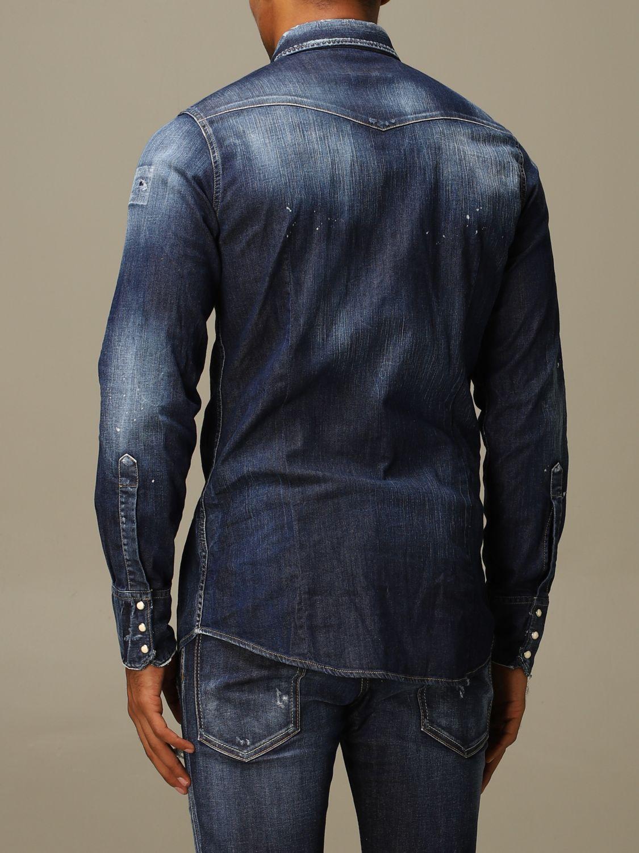 Рубашка Dsquared2: Рубашка Мужское Dsquared2 серо-бежевый 3