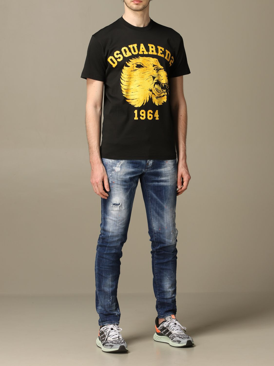 T-shirt Dsquared2: Dsquared2 crew neck t-shirt with lion print black 2