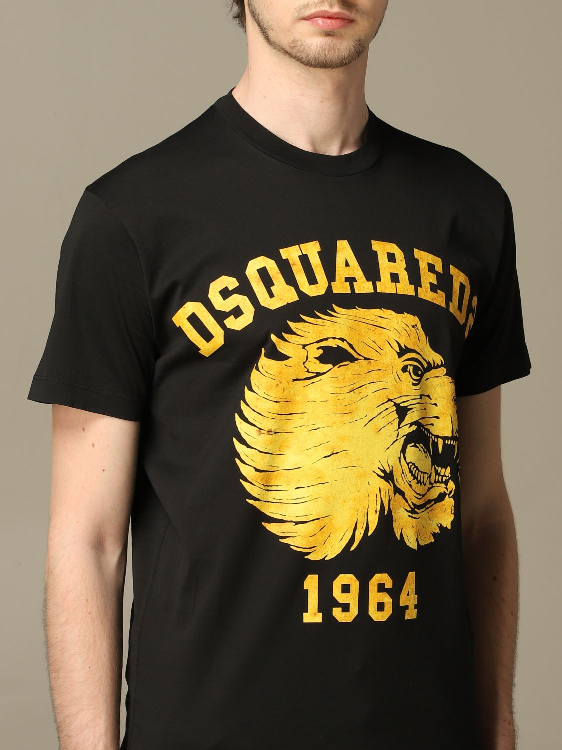 T-shirt Dsquared2: Dsquared2 crew neck t-shirt with lion print black 5