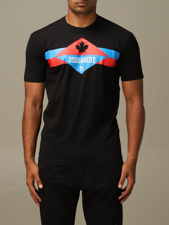 T-shirt Dsquared2: Dsquared2 crew neck t-shirt with logo print black 1