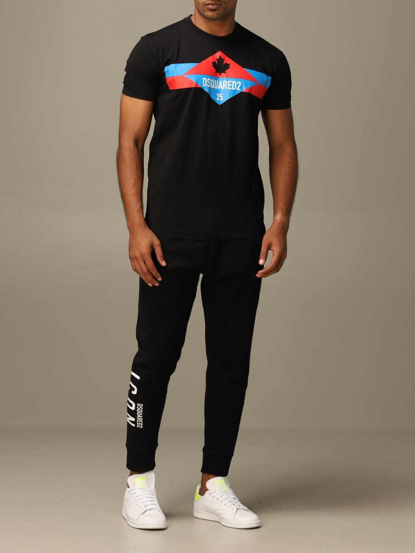 T-shirt Dsquared2: Dsquared2 crew neck t-shirt with logo print black 2
