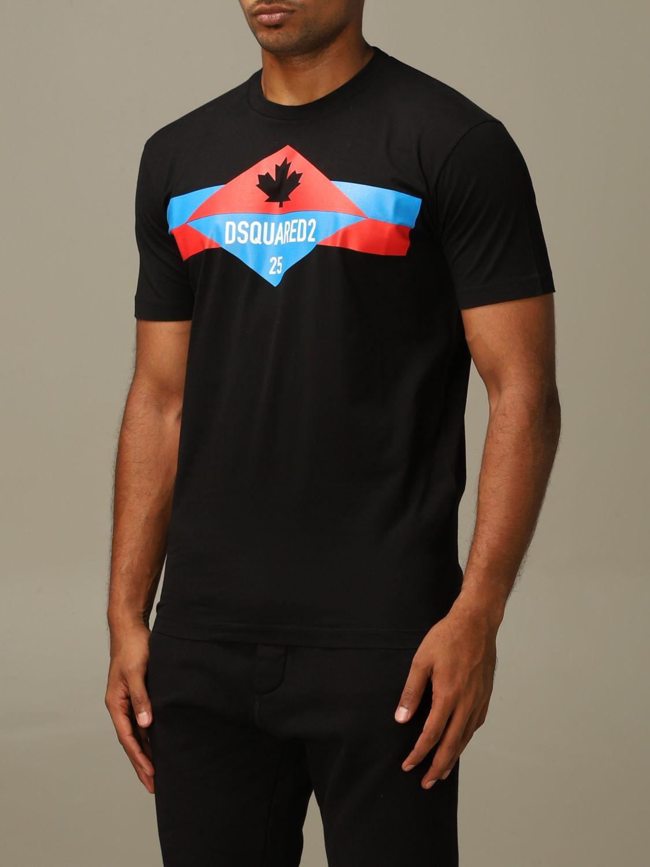 T-shirt Dsquared2: Dsquared2 crew neck t-shirt with logo print black 4