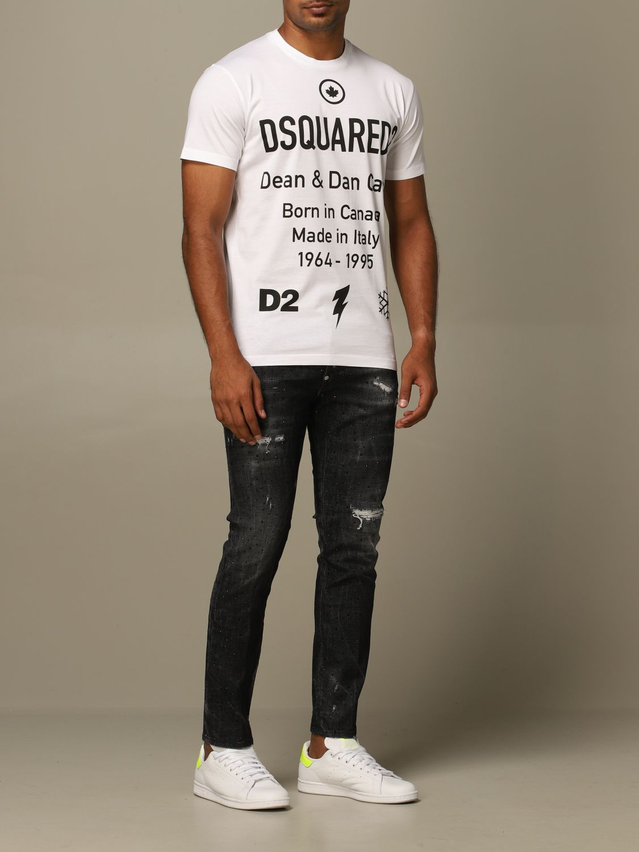 T-Shirt Dsquared2: T-shirt herren Dsquared2 weiß 2