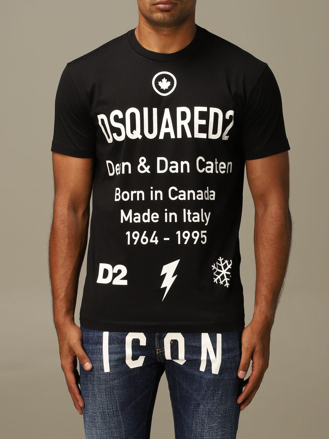 T-shirt Dsquared2: Dsquared2 crew neck t-shirt with logo print black 1